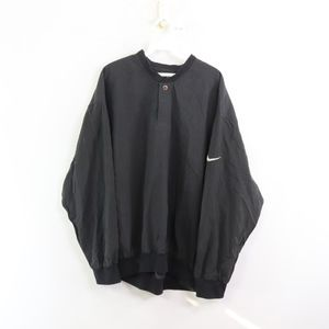 90s Nike Golf Mens Large Windbreaker Jacket Black